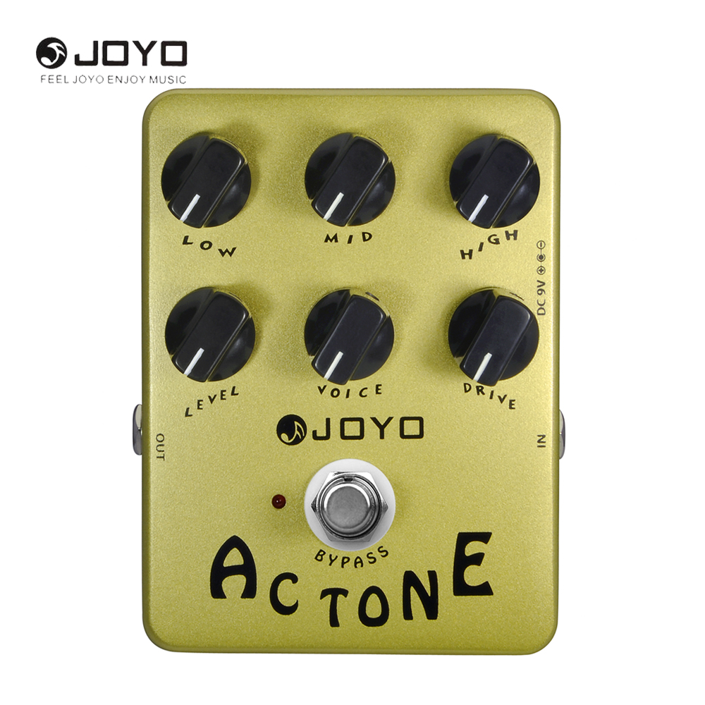 JOYO JF-13 AC Tone Electric Guitar Effect Pedal True Bypass Musical Instrument Guitar Accessory joyo jf 37 guitar effect pedal analog chorus electric true bypass guitar audio pedal box musical instrument accessories