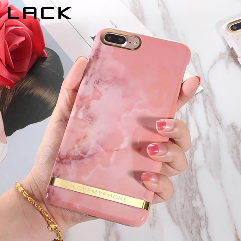Marble Nail Polish Phone Case: LACK Glossy Marble Phone Case For Iphone 7 Case Fashion
