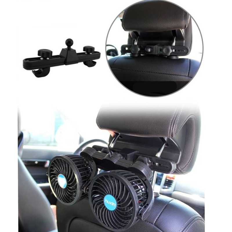 Image 2 - 12V Adjustable Cooling Air Fans Car Back Seat Cooling Fan Hot Summer Travel Car Electrical Appliances 360 Degree Rotation-in Heating & Fans from Automobiles & Motorcycles
