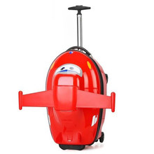 Kids scooter suitcase storage trolley luggage bag for children carry-on rolling luggage ride on trolley suitcase case on wheels(China)