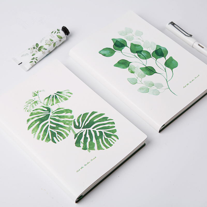 TUTU A5 size 128 sheets Cute plant notes Leaves page post diary Book marker Office School supplies Stationery G0006 a5 20 page 30 page 40 page 60 page file folder document folder for files sorting practical supplies for office and school page 5