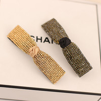 Envío libre importado de pelo accesorios horquilla de Corea del diamante clip de cristal clip de resorte horquilla clip de la explosión de la parte superior