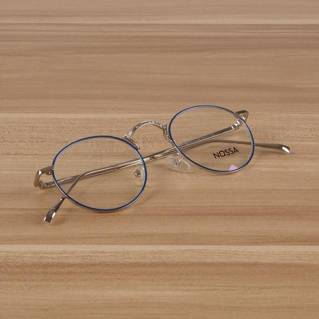 2bb261a2d0 Women   Men s New Fashion Round Glasses Clear Lens Excellent Spectacles  Trendy Myopia Prescription Glasses Metal