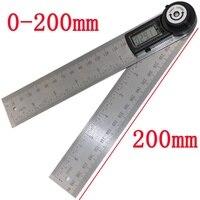 2 в 1 200 мм цифровой угол правителя 360 градусов электронный цифровой Измеритель угла