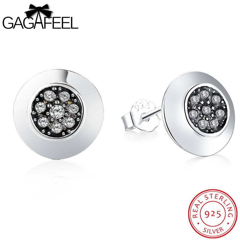 Jewelry & Watches Diamond Pendientes De Diamante Plata De Ley 925 Auténtico Diamante