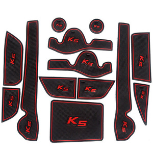 Wysokiej jakości antypoślizgowe wnętrze pad wycieraczka do butów mata na kubki naklejki samochodowe nadające się do KIA K5 2010 2011 2012 2013 2014 13 sztuk akcesoria samochodowe