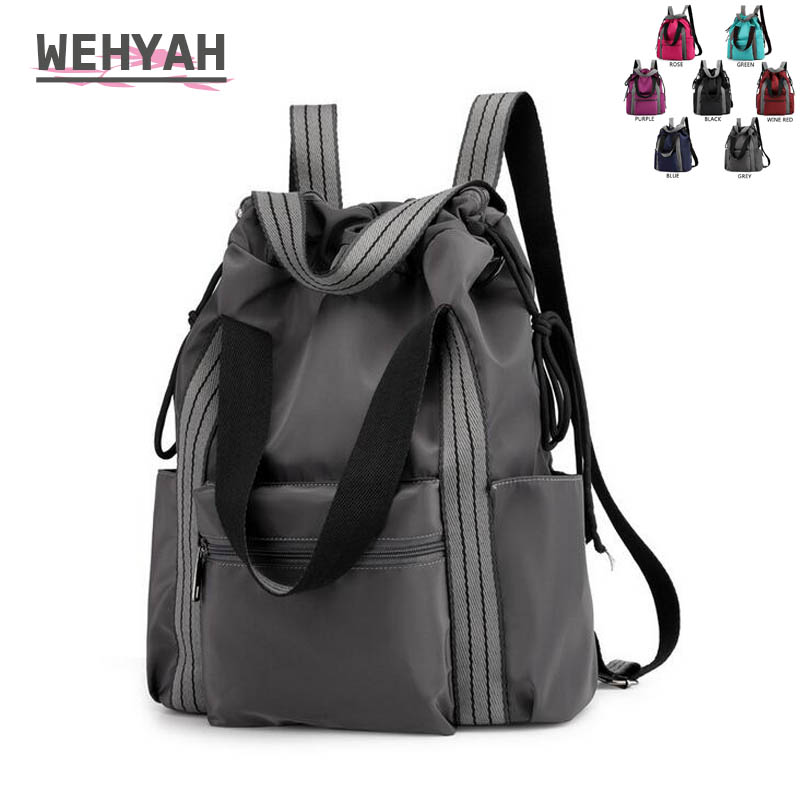 Wehyah Drawstring Backpack Woman Bags for Women Laptop Backpack Men Travel Storage String Waterproof Shoulder Shopping