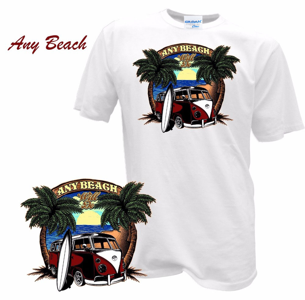 2018 summer brand mens Male Best Selling T Shirt Bulli Surffer Bus Surfings Pin Up Retro Samba T1 T2 Auto Car custom T-shirts