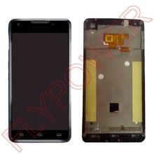 Хорошее Для Philips Xenium w6618 W6610 ЖК-дисплей Экран Дисплей с Сенсорный экран планшета + Рамки сборки черный Бесплатная доставка; 100% гарантия
