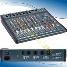 Alta qualidade 8 canais de áudio música usb mixer console mixagem pro processador efeito digital console mixagem mx806