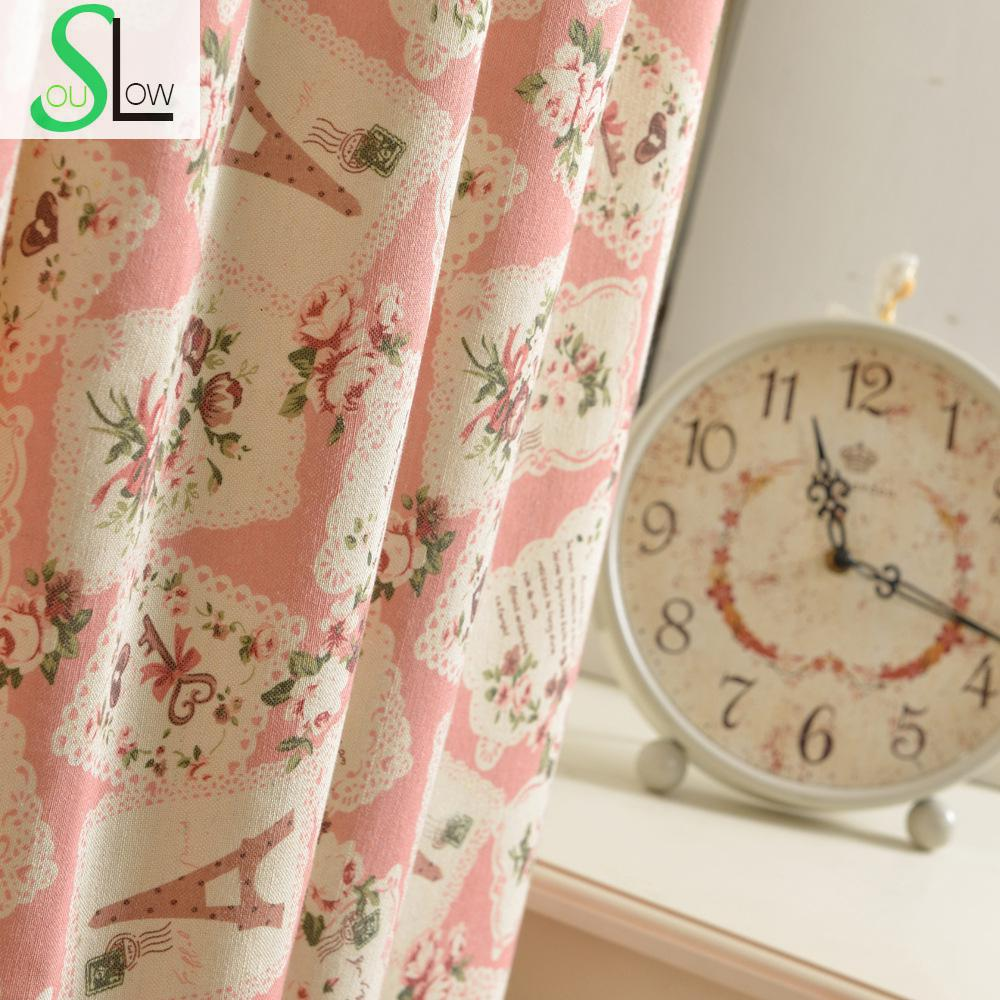 Rustic curtains and drapes - Textile Fabrics Series Style Curtain Cloth Decorative Fabric Floral Curtains Cortinas For Living Room Children Cortina Bedroom