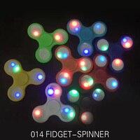 MagicShark Fdget Spinner Glow In The Dark LED Light Hand Fidget ABS Plastic Tri Spinner Hand