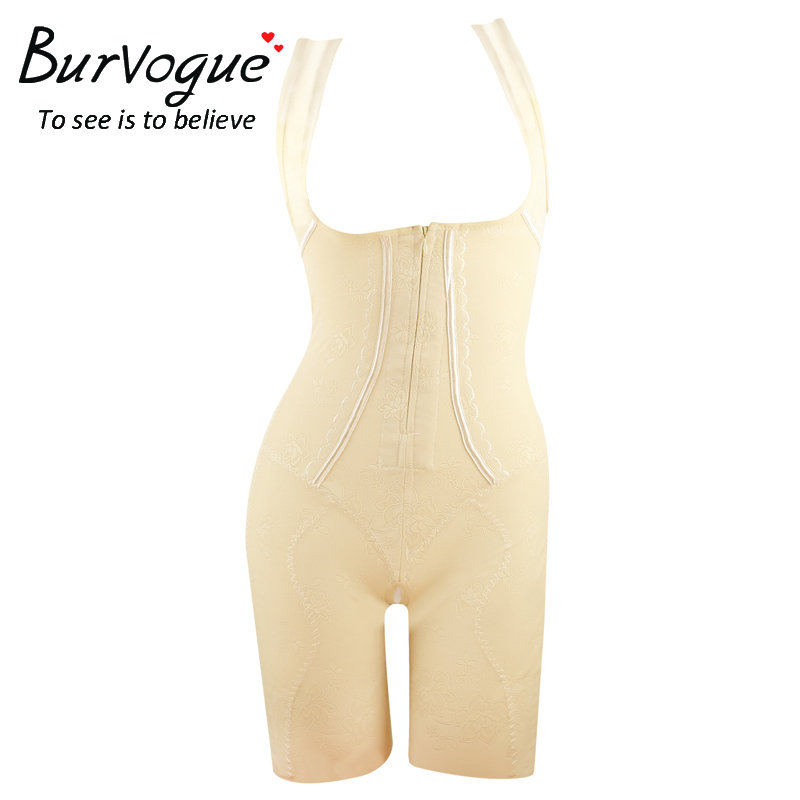 6c96568928 Burvogue Slimming Full Body Shaper for Women Zip and Clip Body Shaper  Underwear Lace Waist and Tummy Trimmer control Shapewear