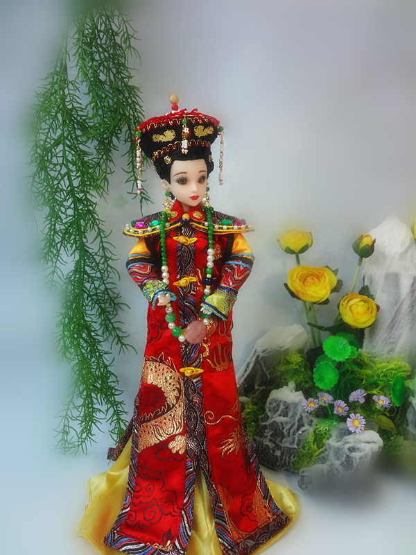 Handmade Ancient Chinese Dolls Qing Dynasty Empress Xiaozhuang Dolls 12 Joints Movable Vintage BJD Girl Dolls Limited Collection