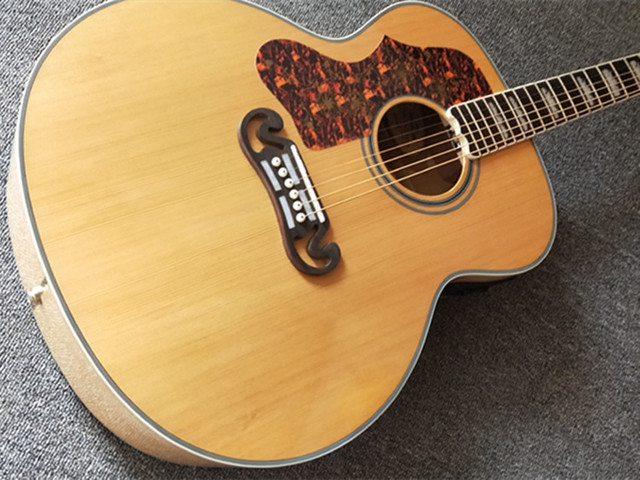 Natural 43 inch Left Hand Concert Acoustic Guitar,Solid Spruce Top Acoustic Guitar,Maple Back and Side,FreeShipping 2