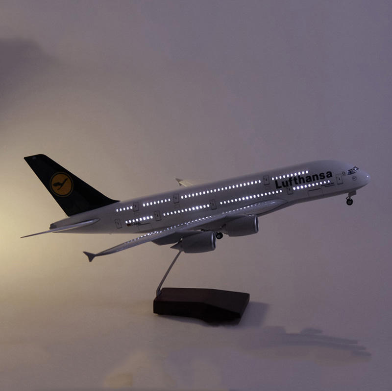 1 160 Scale 50 5CM Airplane Airbus A380 Lufthansa Airline Model Germany Airplane Diecast Plastic Resin Plane For Collection in Diecasts Toy Vehicles from Toys Hobbies