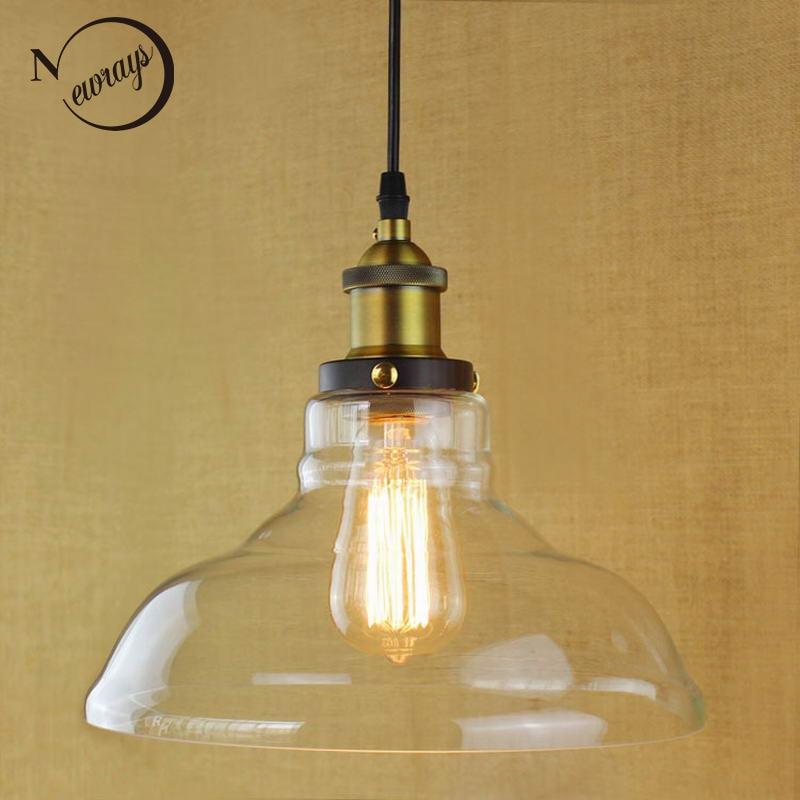 Retro Vintage Průmyslový styl Edison žárovka Osvětlení skleněných svítidel pro kuchyně Restaurant Cafe Decoration E27