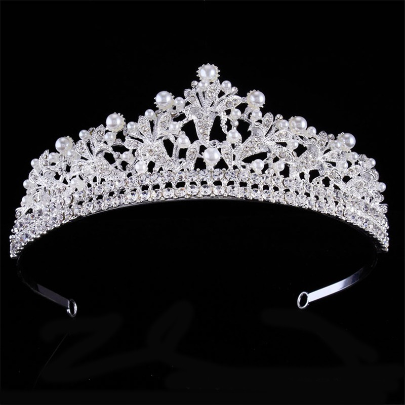 2018 Bridal luxury wedding crown tiara new rhinestone princess tiaras and crowns beauty pageant crown hair hoop hair jewelry