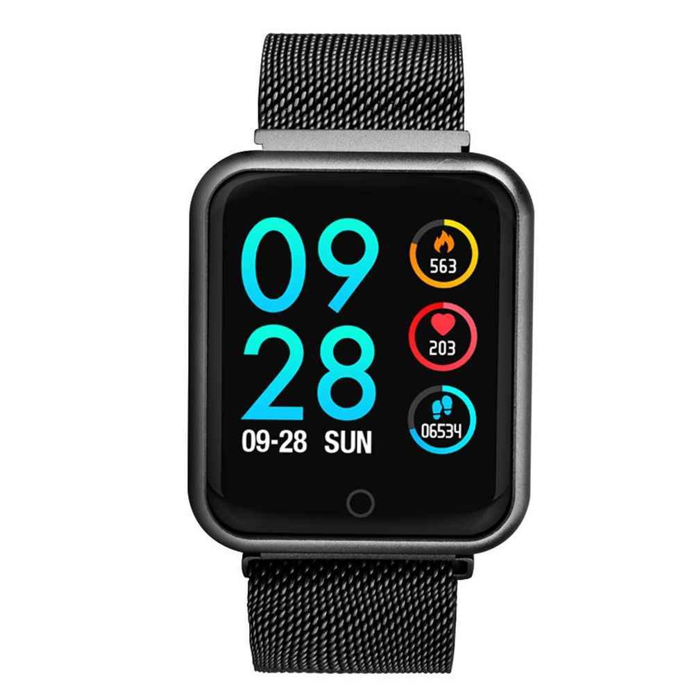 2019 P68 חכם שעון גברים נשים IP68 דם לחץ חמצן קצב לב צג שעון צעדים קלוריות קילומטראז Tracker Smartwatch