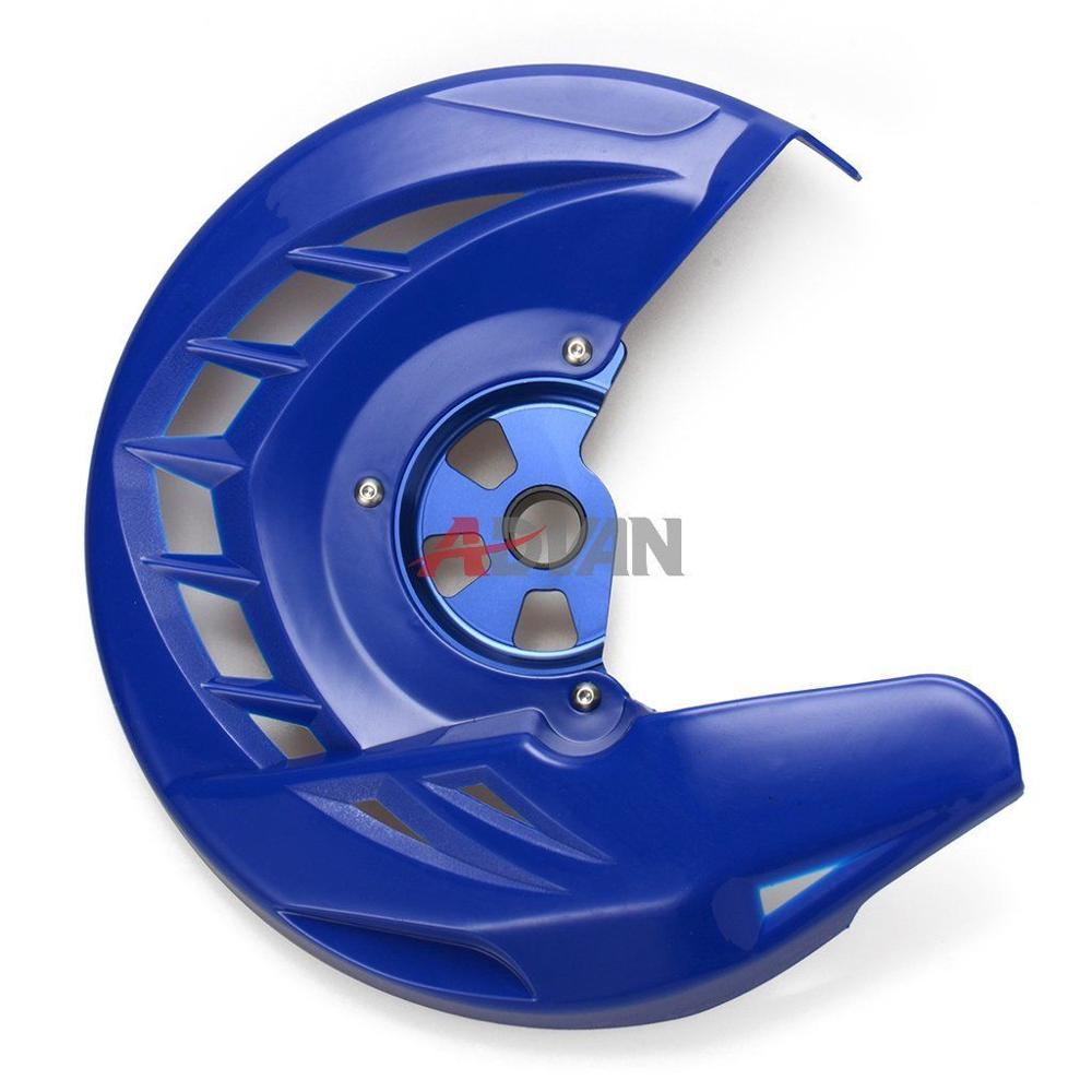 ФОТО Blue Front Brake Disc Guard Protector Cover For Yamaha WR 250 450 F 2006-2015 & For Yamaha YZ 125 250 2008-2016