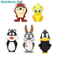 100% real capacity animal series USB flash drive 128gb pendrive 4GB 8GB pen 16GB 32GB 64GB cartoon rabbit usb memory stick