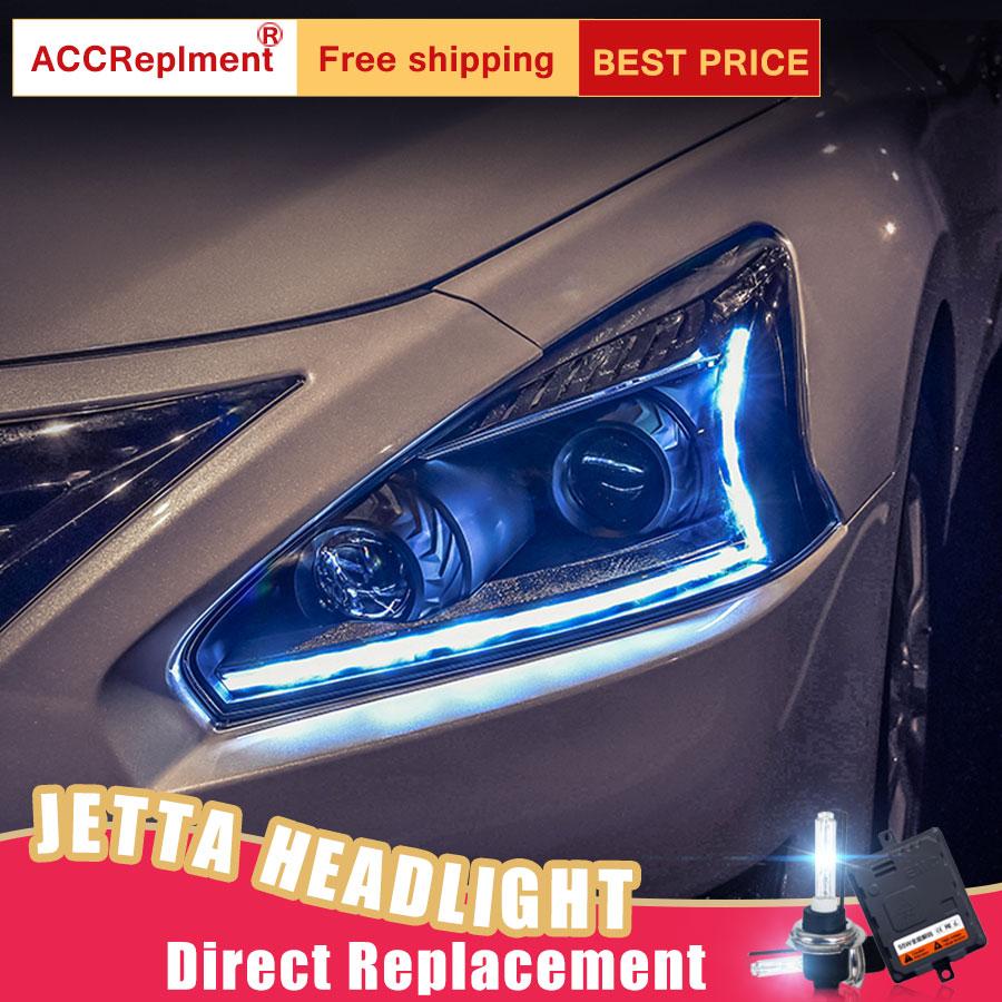 2Pcs LED Headlights For Nissan Altima 2013-2015 led car lights Angel eyes xenon HID KIT Fog lights LED Daytime Running Lights teana angel eyes led head lights for nissan 2008 11 v4 type
