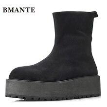 Криперы из натуральной кожи; ботинки из коровьей замши; брендовая мужская повседневная обувь; высокая обувь; высокие ботинки на толстой подошве; Мужские ботинки в стиле Харадзюку