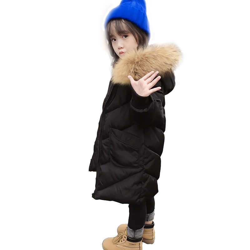 2017 winter kids long snowsuit duck down trench coats children clothes hooded kids warm coats wadded  real fur collar parkas buenos ninos thick winter children jackets girls boys coats hooded raccoon fur collar kids outerwear duck down padded snowsuit