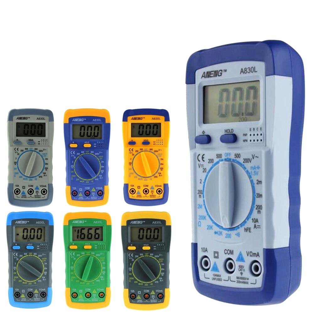 ANENG A830L multimètre numérique LCD Multimètre Numérique DC AC Tension Diode Freguency Multitester 5 #