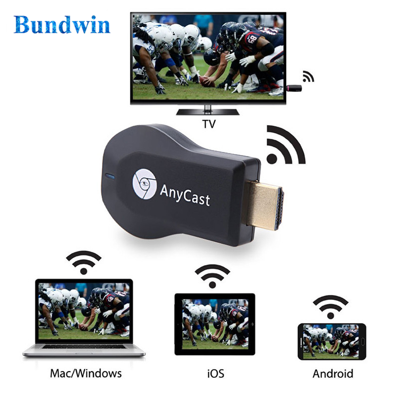 Bundwin Tv-Dongle-Receiver Phone Anycast Wireless Android M2 HDMI for PC Wifi-Display