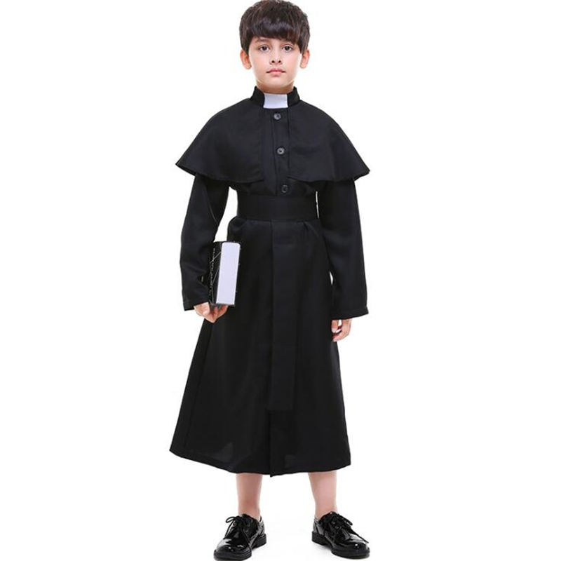 New Arrival Kids Priest Costume Halloween Children Boys Cosplau Clothing