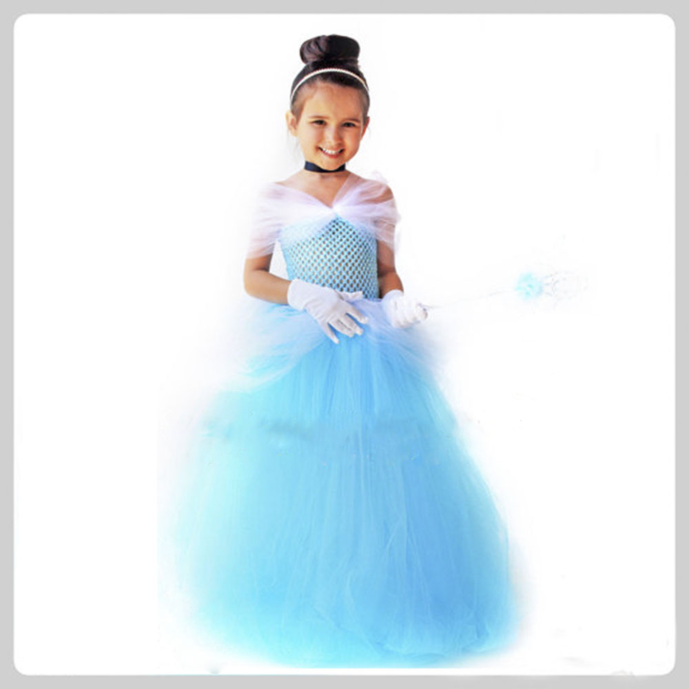 Storybook Princess Cinderella Birthday Party Tutu Dress Yellow Red Blue Fairy Tale Snow White Tutu Dresses Halloween Costume sexy princess dress uniform red yellow blue free size