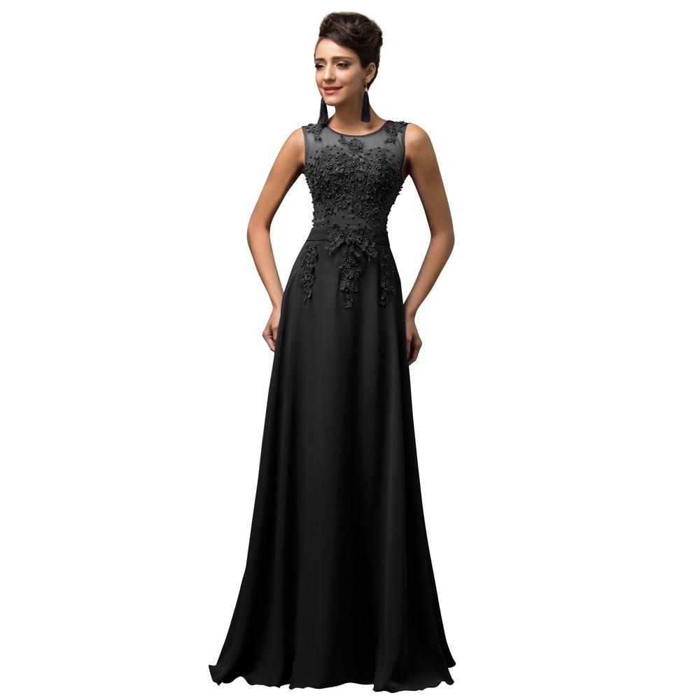 e488e364386e7 Robe De Soiree Long Prom Dresses Grace Karin Sleeveless Chiffon ...