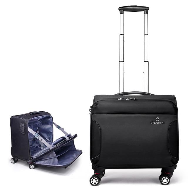 Oxford Fabric Commercial Universal Wheels Trolley Luggage 16 Travel Bag Female Male Cloth Box