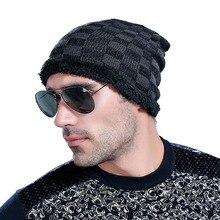 Elastic Men Elastic Hat Hat For Man Skullies Beanies Solid Knitted Hat Warm Cap Men Beanies Cap