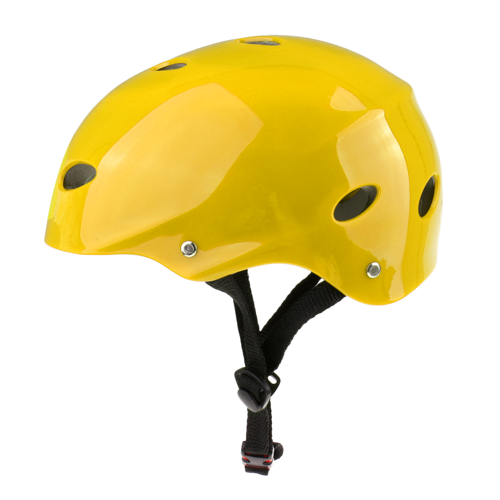 Yellow Water Sports Safety Helmet For Wakeboard Kayak Canoe Boat Surfing