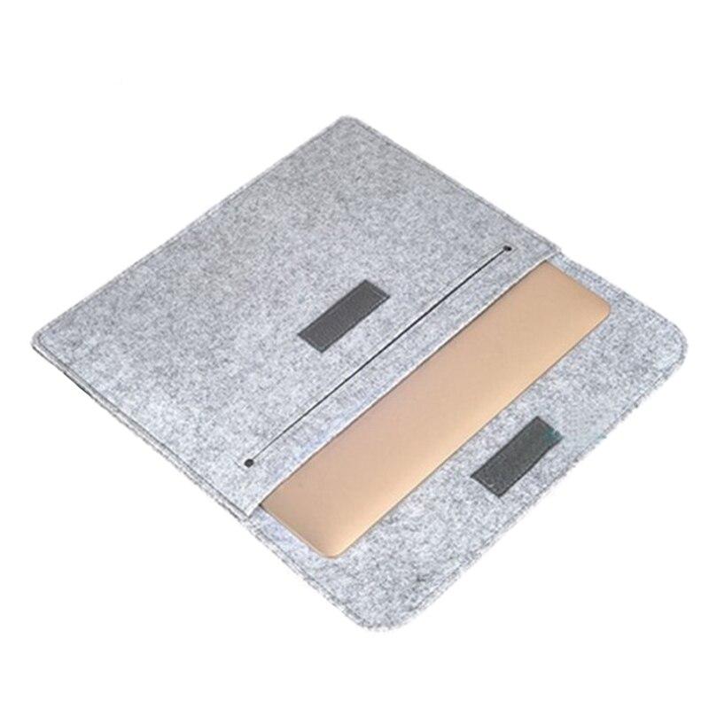Image 4 - ウールフェルトスリムトップスリーブノートブックバッグ Macbook Pro の網膜 11 13 15 ケース Xiaomi 空気  12.5 13.3 15.6 表面のノートパソコン 13.5 カバー -    グループ上の パソコン