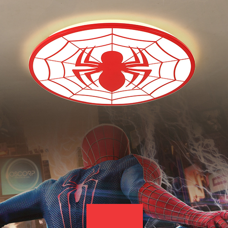American hero Spider-Man LED ceiling lights kids room lighting children ceiling lamp Baby with Dimming for boys bedroom Fixture