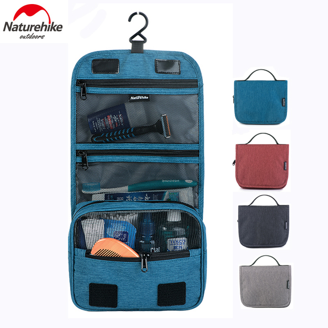 4d22d9553e89 Naturehike Hanging Toiletry Bag Large Capacity Outdoor Camping Travel  Cosmetic Washing Storage Bag NH17X001-S