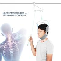 Hanging Neck Traction Device Cervical Traction Fixation Gear Neck Correction Stretcher Pain Relief Chiropractic Head Massager