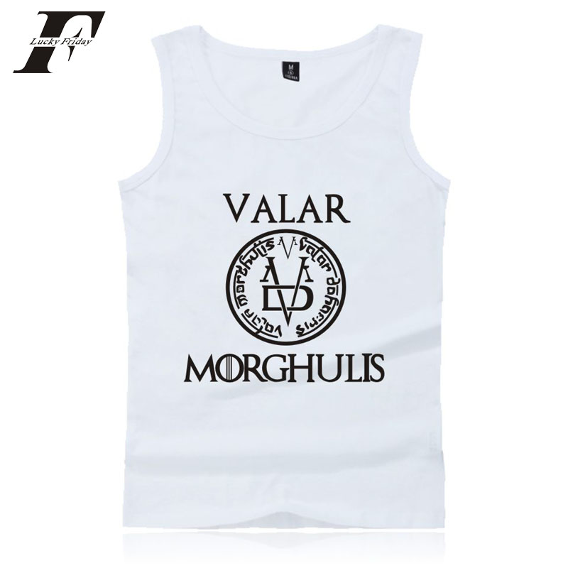 LUCKYFRIDAYF Game Of Thrones 2017 New Men/Women   Tank     Tops   fitness Bodybuilding Kpop Shirt 4XL Clothes Summer Vests PLUS SIZE