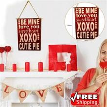 Нам деревянные буквы настенный дверной подвесной доска бляшек пластины со знаками День Святого Валентина Декор