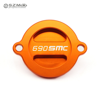 Engine Oil Filter Cover Cap For KTM 690SMC 690 SMC R 2008 2009 2010 2011 2012 2013 2014 2015 2016 Motorcycle Accessories Orange image