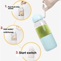 Usb Lade Tragbare Elektrische Entsafter Mixer Obst Babynahrung Milchshake Mixer Maschine Saft Maker Maschine Haushalt-in Entsafter aus Haushaltsgeräte bei