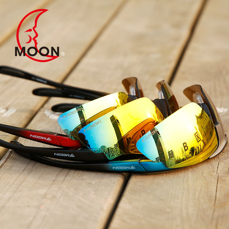 MOON Cycling Eyewear Cycling Glasses Goggles Cycling Outdoor Sunglasses Men Women Unisex Bicycle Glasses  5 Lens 3 Colors steampunk vintage sunglasses men brand designer round sunglasses steam punk metal coating sun glasses women retro oculos de sol