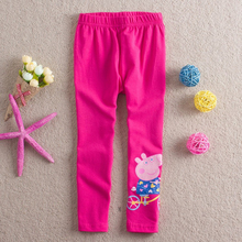 Girl leggings pants children 100% cotton embroidery cartoon pants for girls kids long spring autumn pants leggings