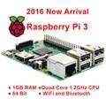 Raspberry Pi 3 Modelo B 1 GB RAM Quad Core 1.2G 64 Bit CPU Bluetooth Wi-fi a bordo