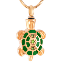 IJD8340 Cute Sea Turtle Stainless Steel Cremation Keepsake Pendant for Ashes Urn Memorial Souvenir Necklace Jewelry стоимость