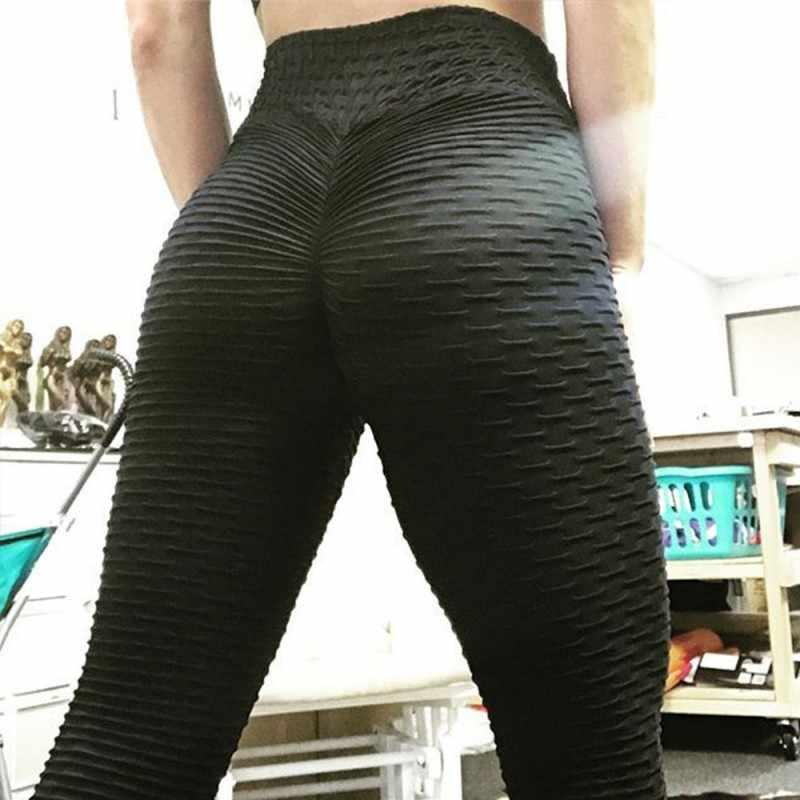 Sexy kobiety Push Up fitness legginsy wysokiej talii spodnie sportowe ćwiczenia trener spodnie do joggingu jogi kulturystyka odzież sportowa spodnie