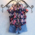 Girls Clothes Baby Girl Sets Summer Style Flowers T-Shirt +Pants Children Clothing Casual Clothes  2-6 T
